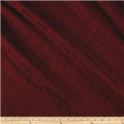Ansley Home Decor Jacquard Solid Burgundy
