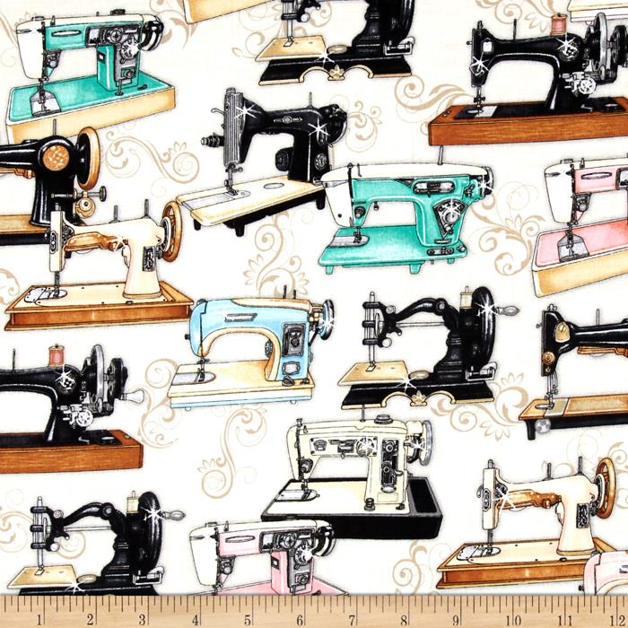 Thimble Pleasures Sewing Machines Beige