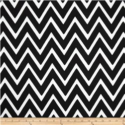 Swavelle/Mill Creek Indoor/Outdoor Zapallar Chevron Ebony Fabric