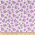 Riley Blake Lovey Dovey Flannel Roses Purple