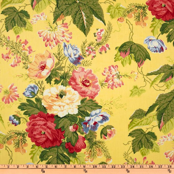 Carver Sateen Tatiana Floral Yellow