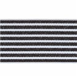 1 1/2'' Grosgrain Stripes Black/White