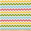 "Riley Blake 108"" Wide Medium Chevron Girl"