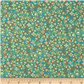 Notting Hill Tiny Floral Teal