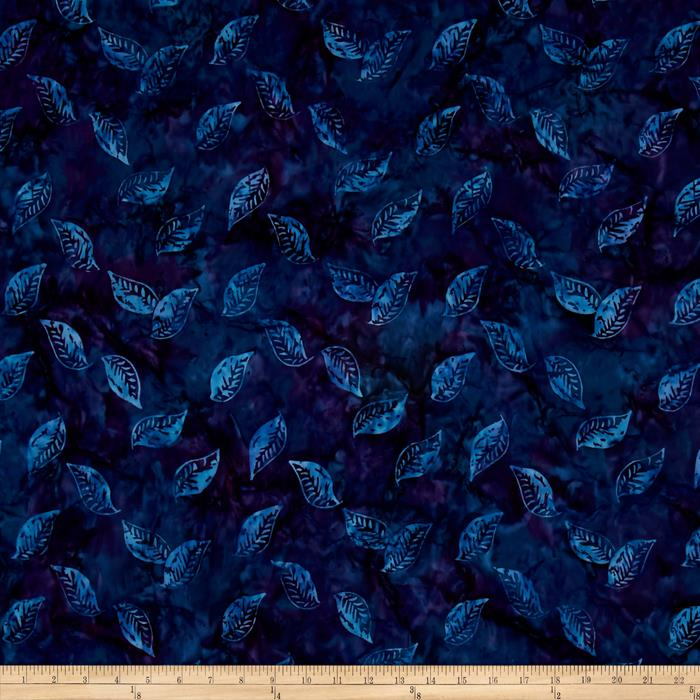 Timeless Treasures Tonga Batiks Lakeshore Floating Leaves Velvet