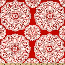 Michael Miller Christmas Tonal Kaleidoscope Santa Red