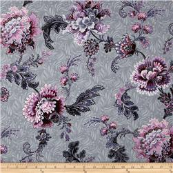 Mary May Metallic Tapestry Floral Gray/Silver
