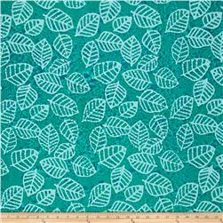 Indian Batik Leaf & Vine Leaf Aqua