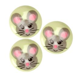 Novelty Button 3/4'' Mouse Multi