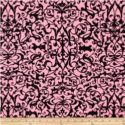 Michael Miller Midnight Trellis Gate Pink Fabric