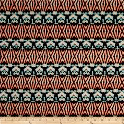Ethnic Ity Prints Rust/Aqua