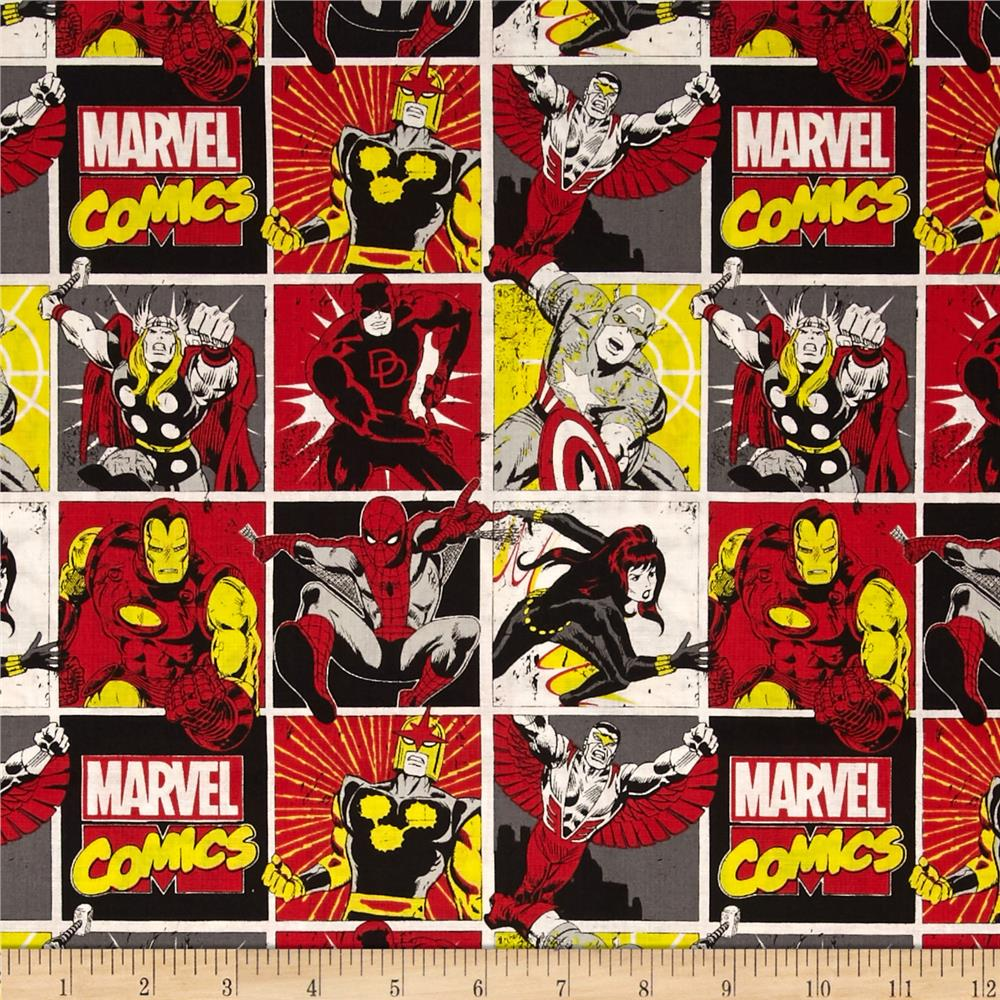 Marvel Comics Comic Blocks Red