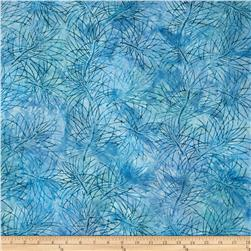 Artisan Batiks Northwoods Leaf Silohette Starry Night Blue