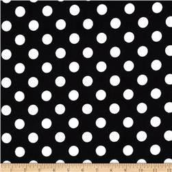 Riley Blake Medium Dots Flannel Black
