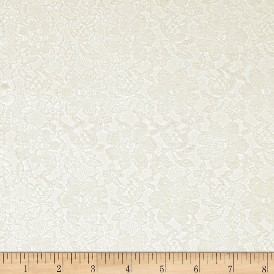 Raschelle Lace Ivory Fabric by Ben in USA