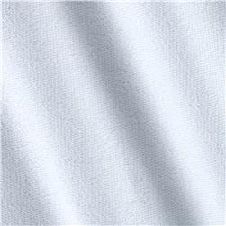 French Terry Spandex Solid White