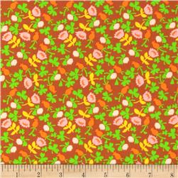 Heather Ross Briar Rose Calico Brown Fabric