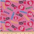 I Heart 1D Boys Flannel Light Pink