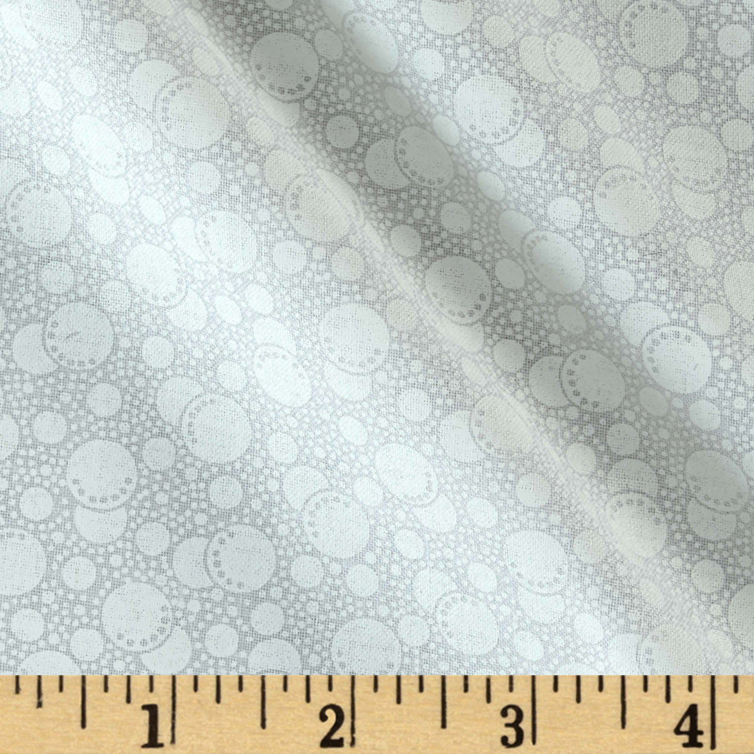 Image of Bubbles Ghost White Fabric