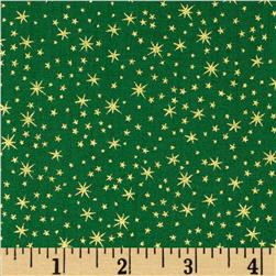 Holiday Metals Metallic Stars Green