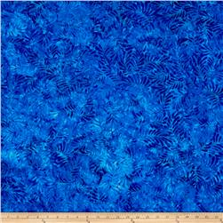 Wilmington Batiks Feathers Royal Blue