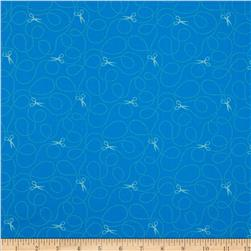 Moda Sewing Box Cut Lines Blueberry