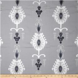 Swavelle/Mill Creek Embroidered Statice Ikat Slate