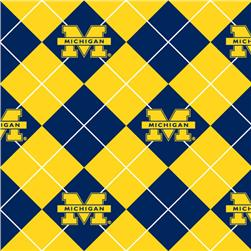 Collegiate Fleece University of Michigan Argyle Navy/Gold