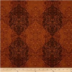 Kanvas Renaissance Man Filigree Rust Fabric