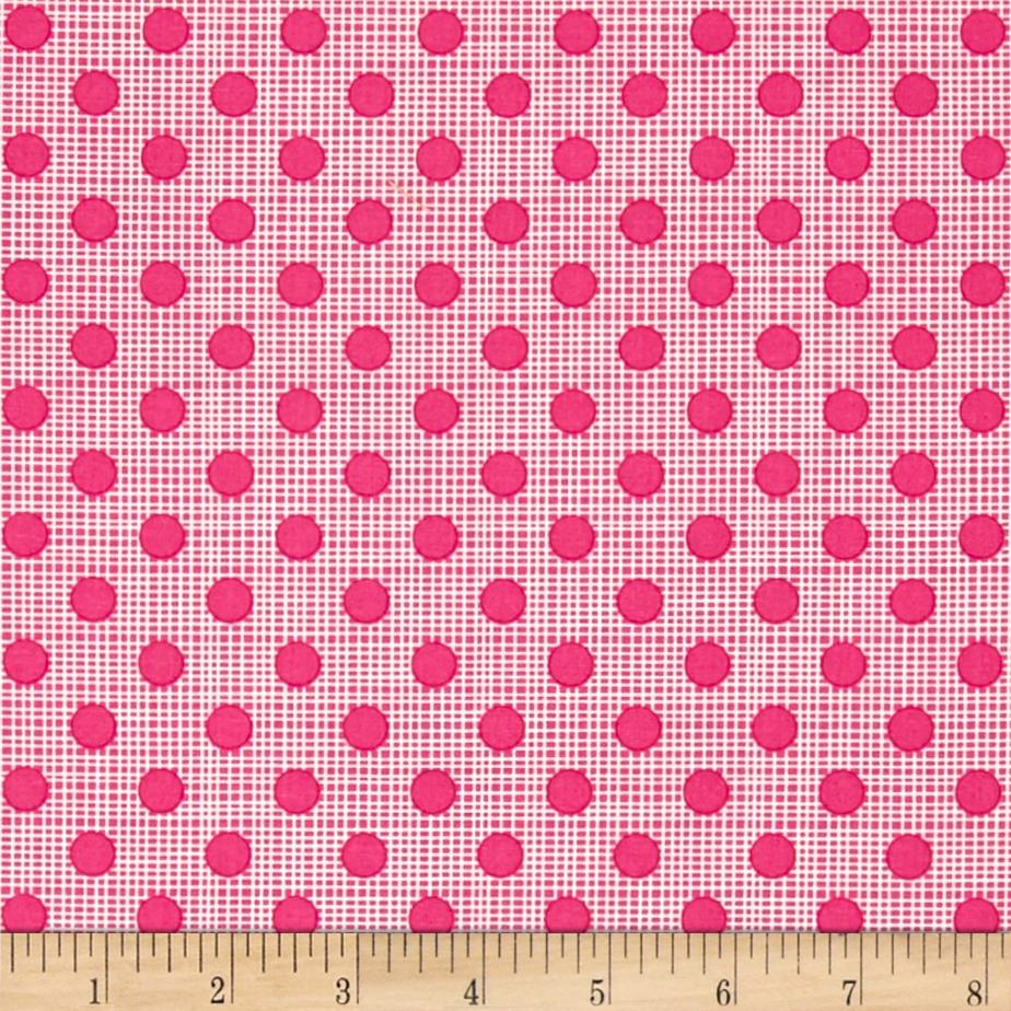 Moda Wing & Leaf Dotty Screen Watermelon