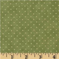 Moda Essential Dots (# 8654-15) Sage Fabric