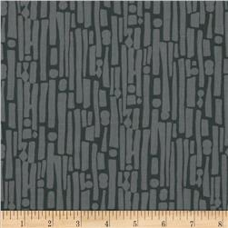 Felicity Geo Stripe Charcoal Fabric