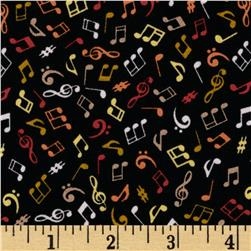 Music Notes Black