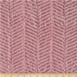 Minky Soft Ziggy Cuddle Baby Pink Fabric