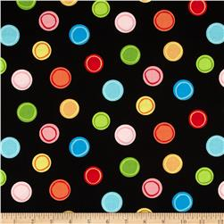 Forest Friends Friendly Dot Black Fabric