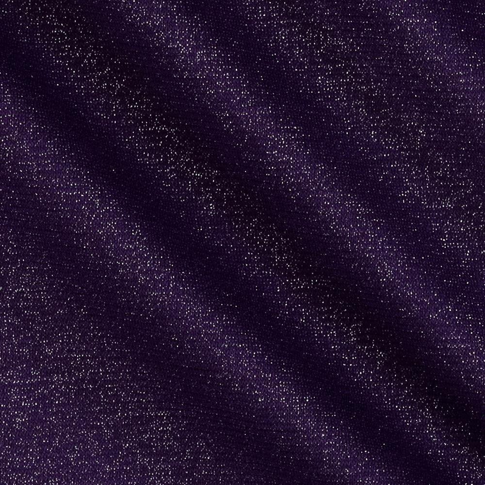 Shimmer Ponte de Roma Knit Solid Purple/Silver