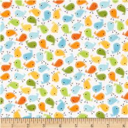 Robert Kaufman Urban Zoologie Mini Birds Bermuda Fabric