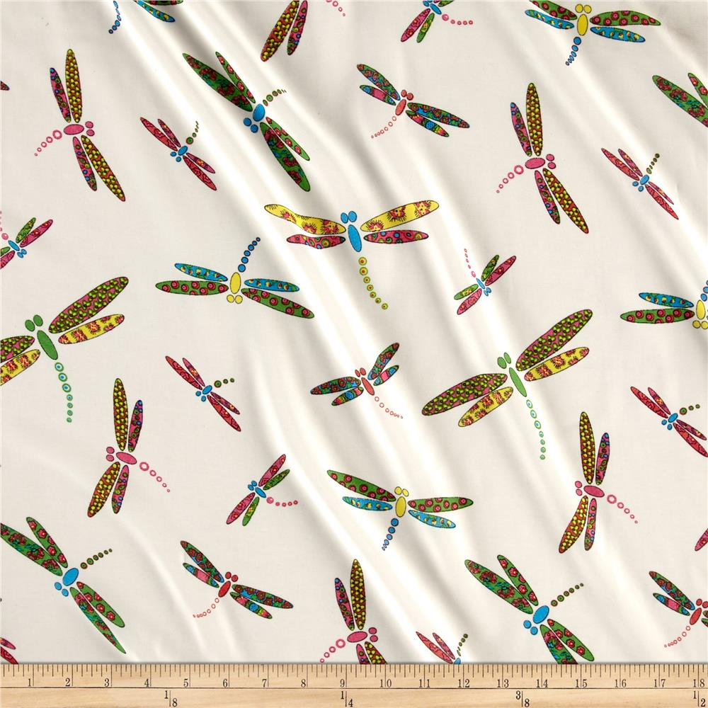 Chiffon Dragon Fly Ivory