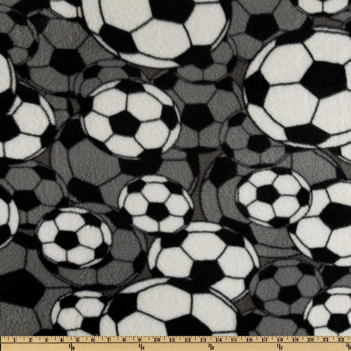 Fleece Soccer Balls Grey