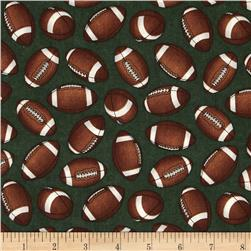 Whole 9 Yards Football Tossed Footballs Green