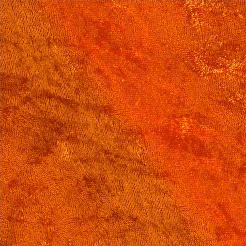 Stretch Panne Velvet Velour Orange