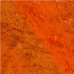 Stretch Panne Velvet Orange