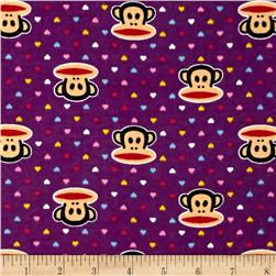 Paul Frank Julius & Mini Hearts Flannel Purple