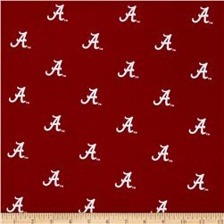 Collegiate Cotton Broadcloth University of Alabama Crimson/White