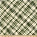 Postcards From the Lodge Diagonal Plaid Tan/Green