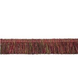 "Fabricut 2"" Luzianne Brush Fringe Bordeaux"