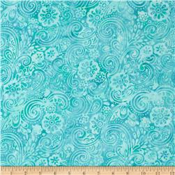 Batavian Batiks Garden Party Medium Aqua/Green
