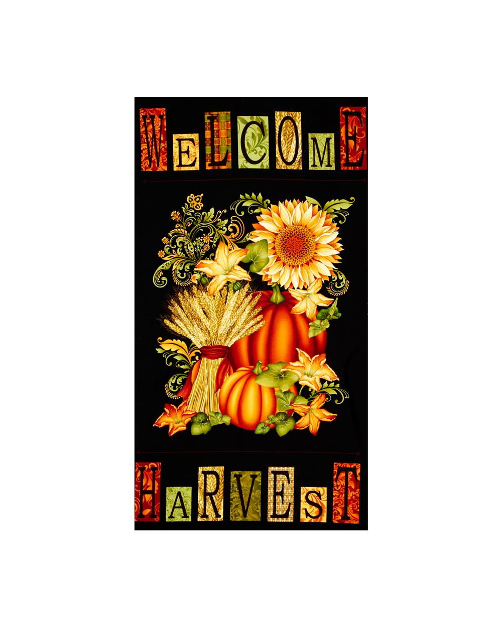 Welcome Harvest 24 In. Panel-Black