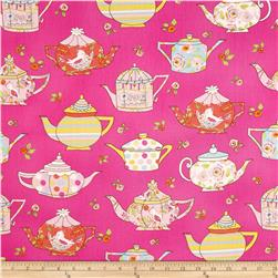 Tiddlywinks Teatime Pink Fabric