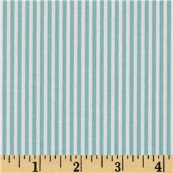 Riley Blake Lost and Found 2 Stripe Aqua